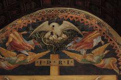 Lorenzo e Jacopo Salimbeni - Crocifissione, dettaglio - affreschi - 1416 - Oratorio di San Giovanni Battista ad Urbino