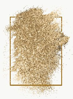 Download free png of Festive shimmery gold glitter paint brush stroke with
