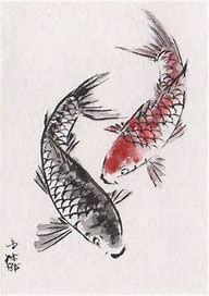 Koi Painting, Chinese Painting, Chinese Art, Chinese Brush, Japanese Painting, Koi Fish Drawing, Fish Drawings, Animal Drawings, Fish Illustration