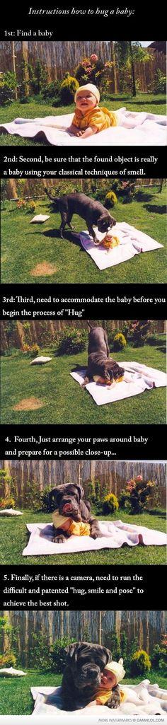 how to hug a baby...awww