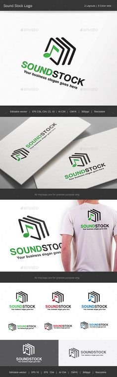 Sound Stock Logo Template #design #logotype Download: http://graphicriver.net/item/sound-stock-logo/11829849?ref=ksioks