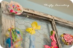 old window hairbow holder - so cute!