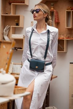 <Fashion Belt Bag Shoulder Crossbody Evening Bag FJORD Mini Geniune Leather and W. Fashion Belt Bag Shoulder Crossbody Evening Bag FJORD Mini Geniune Leather and Wood wich decorated N Womens Fashion Online, Latest Fashion For Women, Fashion Women, Casual Belt, Fjord, Trend Fashion, Trendy Swimwear, Fashion Belts, Street Style Women