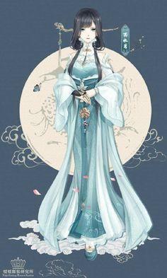 Minh Thủy Diên - tộc trưởng gia tộc Huyền Vũ , một trong tứ đại gia tộc Chân Mây Girls Characters, Anime Characters, Cartoon Family, Manga Art, Manga Anime, Anime Art, Nikki Love, Anime Dress, Hanfu