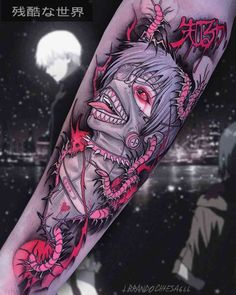 Ken Kaneki Art Tattoo is part of Geometric Bird tattoos Men - Ken Kaneki Art Tattoo by Brando Chiesa Kaneki, Manga Tattoo, Anime Tattoos, Badass Tattoos, Body Art Tattoos, Tatoos, Maori Tattoos, Tokyo Ghoul, Dibujos Tattoo