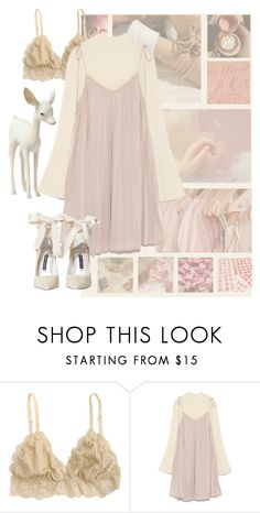 """doe eyes"" by potesauu ❤ liked on Polyvore featuring Dreamgirl and Alice + Olivia"