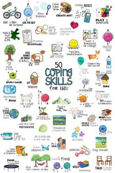 Coping Skills for Kids. Fun School Counseling Lesson, Collage Craft, Poster and Sorting Activities! Stress & Anger Management Self-Regulation Coping Tools Counseling Activities, Sorting Activities, Group Counseling, Time Activities, Outdoor Activities, Anger Management Activities For Kids, Aba Therapy Activities, Visual Motor Activities, Counseling Bulletin Boards