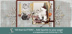Sparkles-Created a glitter background in Photoshop and add it to your page to make it sparkle and give it some dimension to attract the viewer's attention.