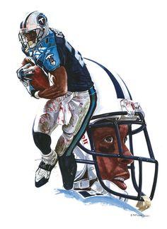 Tennessee Titans Eddie George by artist Bruce Tatman