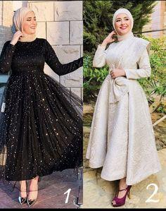 Muslim Prom Dress, Hijab Prom Dress, Hijab Evening Dress, Hijab Style Dress, Stylish Dresses For Girls, Elegant Dresses, Hijab Fashion Inspiration, Prom Dresses Long With Sleeves, Mode Hijab