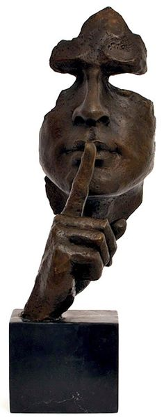 Sculpture Stillness does speak.Michela Stillness Speaks Hommage to Dalì Great Bronze Sculpture/ Mask Metal Art, Wood Art, Sculpture Metal, Sculpture Ideas, Abstract Sculpture, Oeuvre D'art, Ceramic Art, Sculpting, Street Art