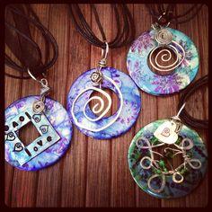 Handmade washer pendants