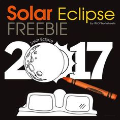 Solar Eclipse 2017 Free Coloring Page See More Cafts Solar Eclipse Craft LET'S STAY CONNECTED: Facebook • Instagram • Pinterest