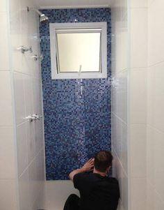 revestimento para banheiro pastilha adesiva azul