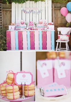 Vintage & Girly Cute as a Button Birthday Party // Hostess with the Mostess®