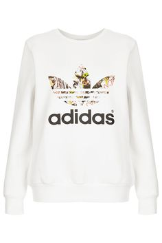 **Trefoil Print Sweat by Topshop x adidas Originals - Topshop x adidas Originals - Clothing - Topshop USA