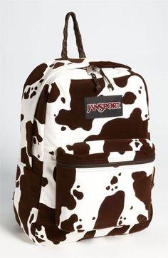 Cute Backpacks, Girl Backpacks, School Backpacks, Cow Kitchen Decor, Cow Decor, Mochila Jansport, Jansport Backpack, Backpack Craft, Backpack Purse