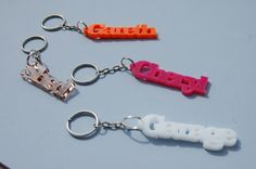 Personalised Laser Cut Name Keyring / Key Fob / Key Chain - Wide Colour Choice - 5mm Thick Acrylic - Free P&P