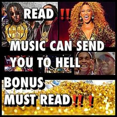 THE BIBLE TELLS US IN #John 17:17  King James Bible Sanctify them through thy truth: thy word is truth. SO THEREFORE!!! If the #music  that you're #listing to is CAUSING the spirit of AHAYAH to depart from YOU THAT MEANS THE MUSIC THAT YOU'RE LISTING  TO... Is #shackling you  I'n a state of #DARKNESS AND DECEPTION, that will completely CRIPPLE YOUR ABILITY to EVER #comprehend the word of #TRUTH! That means you can NEVER be holy BECAUSE THE #Bible says sanctify them through th...