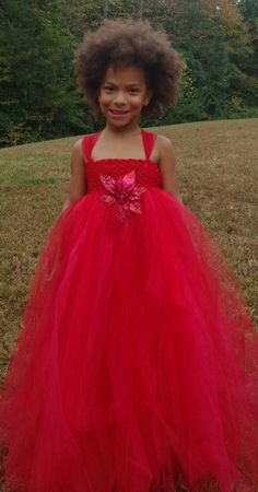 Red Tutu Dress perfect for the holidays worn by my lovely daughter