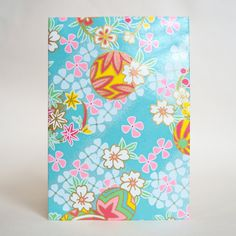 Japanese Yuzen Washi Card Holder - Temari Thread Balls & Cherry Blossom Aqua Blue Japanese Minimalism, Oyster Card, Travel Cards, Japanese Patterns, Unique Cards, Japanese Culture, Card Holders, Pattern Paper, Aqua Blue