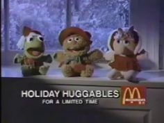Holiday Huggables Muppet Babies 1988 McDonald's Commercial--I have Miss Piggy! 90s Childhood, My Childhood Memories, Great Memories, Retro Toys, Vintage Toys, Muppet Babies, 80s Kids, My Memory, Old Toys