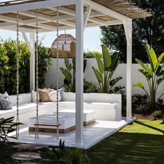 Backyard Pool Designs, Small Backyard Patio, Swimming Pools Backyard, Pergola Designs, Patio Design, Garden Design, Outdoor Rooms, Outdoor Living, Outdoor Furniture