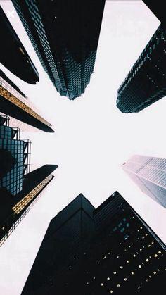 Skyscrapers Up View Dark #iPhone #8 #wallpaper