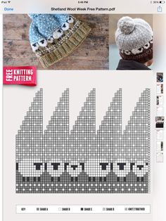 Crochet Baby Hats Stricken - It says knitting pattern but I think I could chan. Fair Isle Knitting Patterns, Knitting Charts, Knitting Designs, Knitting Stitches, Knitting Projects, Hand Knitting, Crochet Baby Hats, Knitted Hats, Beanie Pattern