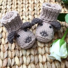 Cute booties to make for a new arrival!