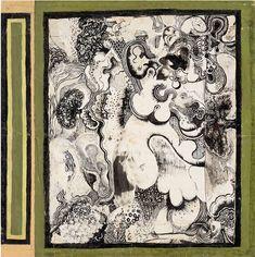"""Modern British Art Works by David Evans: """"Inner Landscape """" David Evans, Gouache, Vintage World Maps, Literature, Abstract Art, British, Ink, Fine Art, Landscape"""
