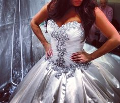 Pnina Tornai sweetheart ball gown in satin