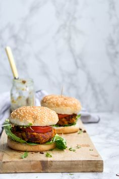 Sweet Potato and Chickpea Burger | The Mother Cooker