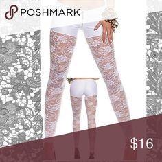"""Arriving Soon-Be the First to Show These Off Attached Legging Shorts  (Size Large) Waist 24"""" - 32"""" / Length 37"""" Fabric:Polyester, Spandex Leggings Style     Solid Color TrendL Lace Pants Leggings"""