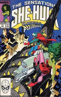 Sensational She-Hulk # 11 by Rick Leonardi