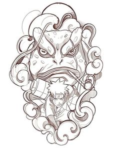 🐸 🍥 🐸 Gamabunta&Naruto /no available/no Disponible Anime Naruto, Naruto Cute, Naruto Shippuden Sasuke, Itachi Uchiha, Naruto Tattoo, Manga Tattoo, Naruto Drawings, Naruto Sketch, Chinese Tattoo Designs