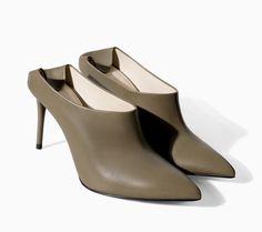 Pin for Later: 17 Schuhe von Zara, die einen Blick Wert sind Zara Frühlingsschuhe Zara Pointed Leather Mule ($100)
