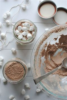 Spiced Hot Chocolate Mix + Desserts In Jars Giveaway!   Bev Cooks