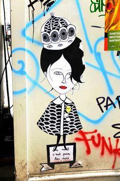 Fred le chevalier - street art - Paris 20 - rue des Pyrénées