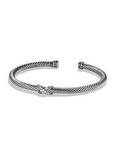 $525.00 David Yurman X Bracelet with Diamonds