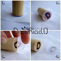 Timbro fai-da-te per ceralacca by decoriciclo. Da usare anche per fare delle tag con la colla a caldo.
