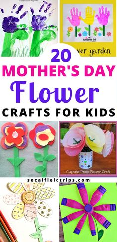 Homemade gifts for the best Mother's Day presents you could ever make! With limited supplies and in only 30 minutes, you can easily make anyone of these 20 Mother's Day Flower Crafts For Kids! Creative Arts And Crafts, Easy Crafts For Kids, Summer Crafts, Toddler Crafts, Fun Crafts, Amazing Crafts, Mothers Day Decor, Mothers Day Crafts, Best Mothers Day Presents