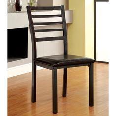 Furniture of America Hartley Gunmetal Dining Chair
