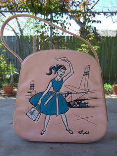 Vintage 1950's/1960's Pink Vinyl PONYTAIL by greeneyezdesignz, $35.00