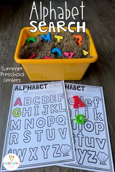 Are you looking for fun hands on Centers for Summer?  Then you will love Summer Math and Literacy Centers for Preschool.  The activities will help children build number sense and literacy skills.