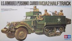 Tamiya Half Track Personnel Carrier M 3 9 Figures for sale online Tamiya Model Kits, Tamiya Models, Panzer Iv, Jeep Willys, Plastic Model Kits, Plastic Models, Luftwaffe, Wooden Ship Model Kits, Patton Tank