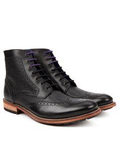Brogue ankle boot - Black | Footwear | Ted Baker ROW