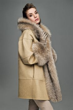 Fox Fur Trimmed Leather Jacket