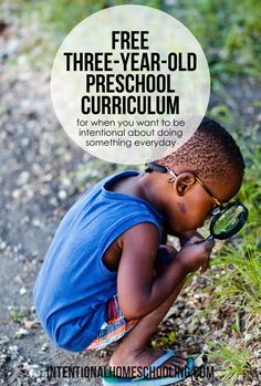 Free 3-Year-Old Preschool Curriculum - perfect for intentional preschool when…