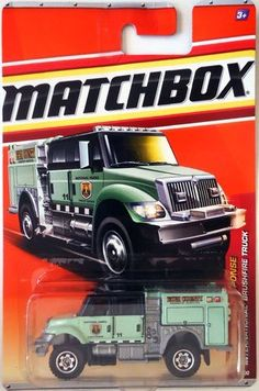 Matchbox 2011 International Brushfire Truck (Mint Green - EKIM County Forestry Services National Forest Ranger # 11) # 52/100 Emergency Response 4/11 1:64 Scale